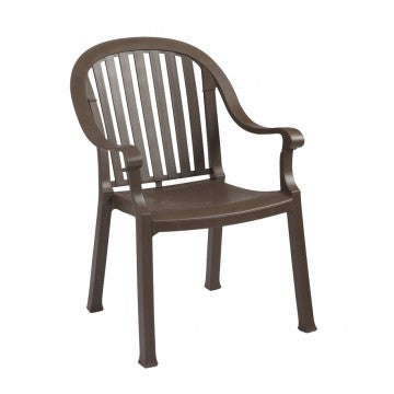 Colombo Slat Back Stacking Armchair Bronze