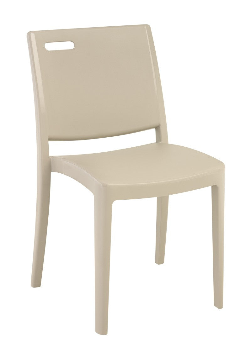Metro Resin Stacking Chair w/ Handhold Back