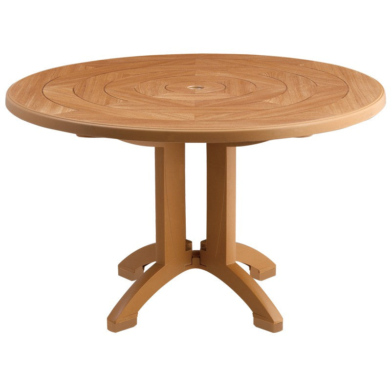 "Aquaba 48"" Round Outdoor Table  w/ 4-Prong Pedestal Base"