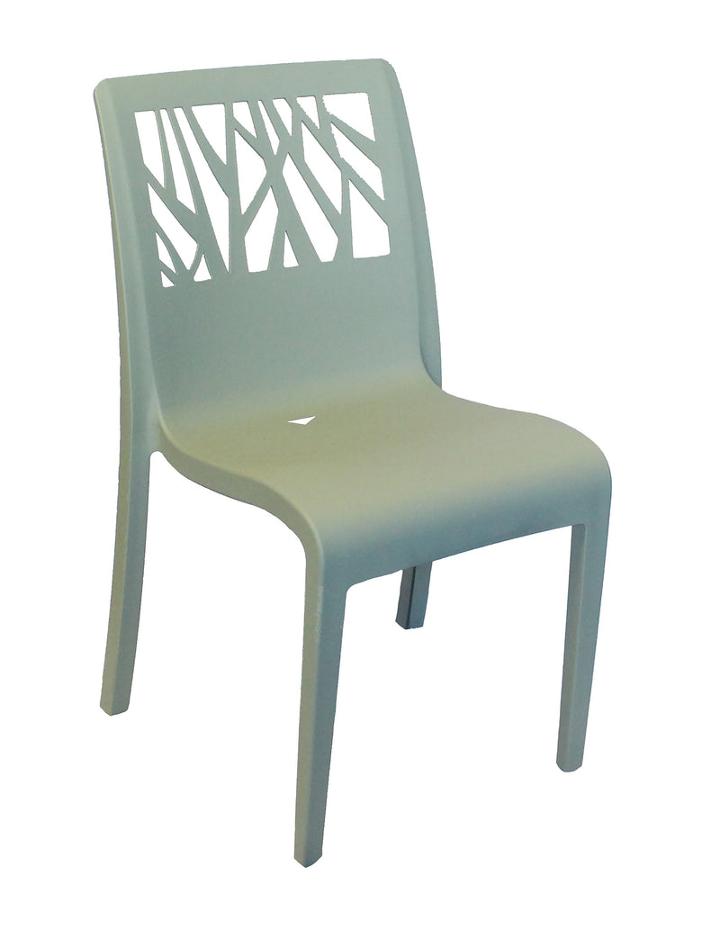 Vegetal Resin Stacking Sidechair