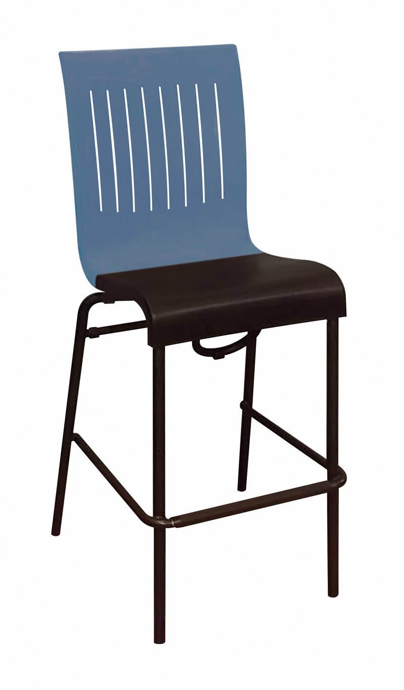 Viva Resin Stacking Barstool w/ Slat Back