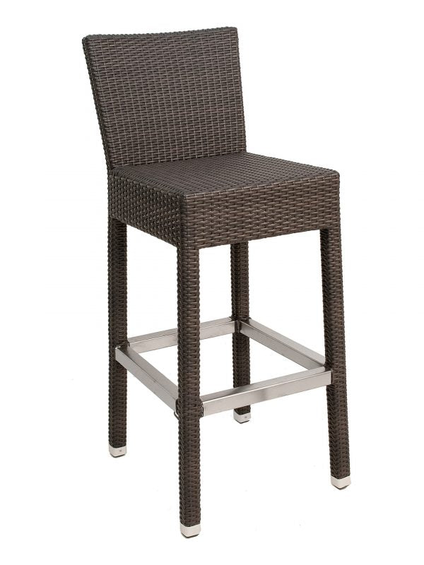 Wicker Over Aluminum Frame Outdoor  Barstool, Naples Series
