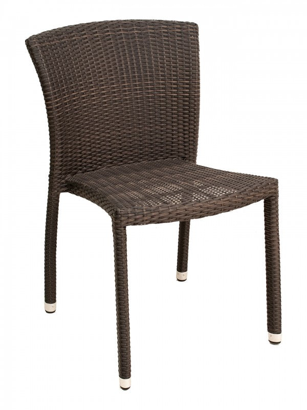 Aluminum Frame Wicker Stackable Outdoor Chair,  Biscayne Series