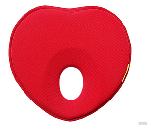 red heart shaped flat head prevent pillow