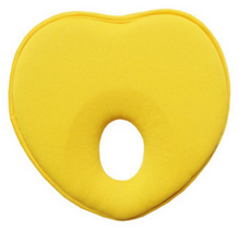 yellow - heart shaped - flat head pillow