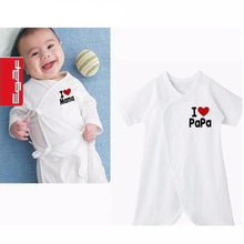 0-9M Baby I Love Mama / I love Papa Romper - Baby-Treasure - Everything all about Pregnant and Babys