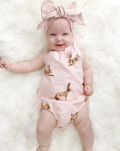 0-18M Baby Rabbit Headband Romper - Baby-Treasure - Everything all about Pregnant and Babys