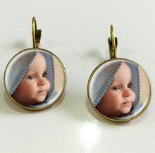Custom Personalized Earring - Photo of Your Baby - Baby-Treasure - Everything all about Pregnant and Babys
