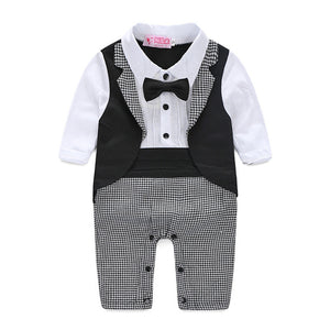 0-24M Baby Boy Gentleman Cotton Romper - Baby-Treasure - Everything all about Pregnant and Babys