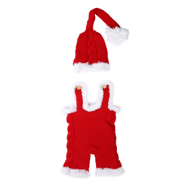 0-4M Baby Christmas Costume Romper + Hat - Baby-Treasure - Everything all about Pregnant and Babys