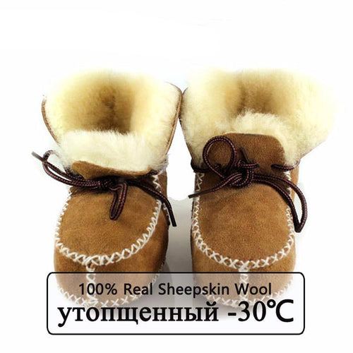 6-24M Baby Winter Fur Boots Warm Shoes - Baby-Treasure - Everything all about Pregnant and Babys