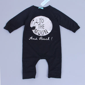 "6-18M Baby Boy Cartoon Clothes ""TO THE MOON"" - Baby-Treasure - Everything all about Pregnant and Babys"