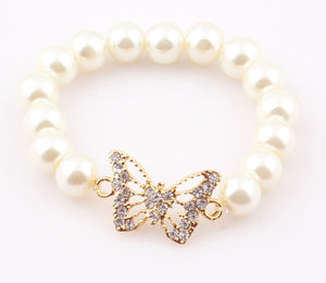 Baby Children Butterfly Fox Pearl Bracelet - Baby-Treasure - Everything all about Pregnant and Babys