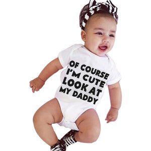 "3-12M Baby Romper ""Of Course im Cute"" - Baby-Treasure - Everything all about Pregnant and Babys"
