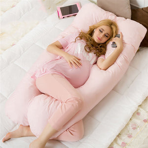 Comfortable pink pregnancy pillow