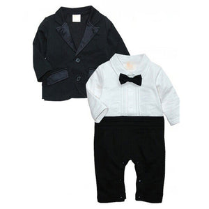 "6-24M 2Pcs Baby Boy Clothing Set ""Gentleman"" - Baby-Treasure - Everything all about Pregnant and Babys"