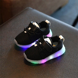 12-36M Baby Girls Boys Glowing Sneakers LED - Baby-Treasure - Everything all about Pregnant and Babys