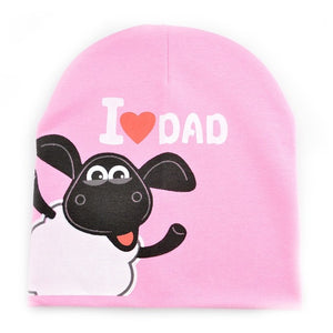 "0-36M Baby ""I Love Mama/Dad"" Cotton Beanies - Baby-Treasure - Everything all about Pregnant and Babys"