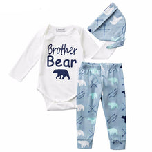 6-24M 3Pcs Baby Romper + Bear Pants + Cap - Baby-Treasure - Everything all about Pregnant and Babys