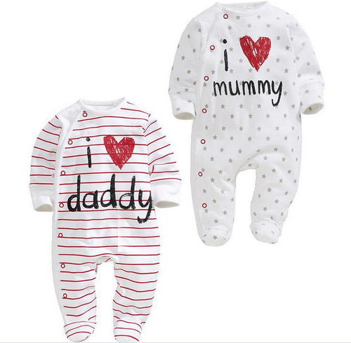 0-24M Cute Baby Cotton Bodysuit - Baby-Treasure - Everything all about Pregnant and Babys