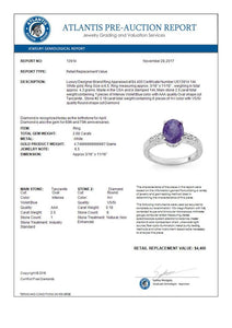 $4,400 2.68 CTW Tanzanite & Diamond Ring 14K White Gold