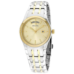 Bulova Men's Two Tone Stainless Steel Bracelet Watch 37mm 98C60