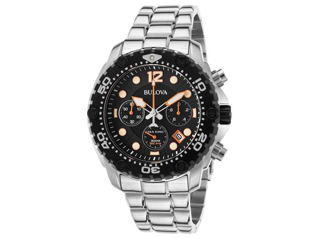 Bulova Sea King Chronograph Ultra High Frequency Stainless Steel Men's Watch #98B244