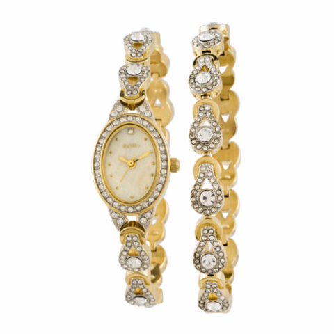 Elgin Women's Crystal Watch and Bracelet