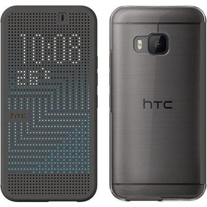 HTC Dot View Ice Premium Case for HTC One M9 (Grey) TMOM64034