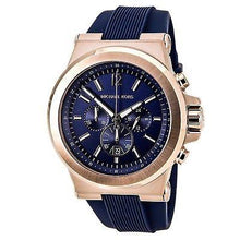Michael Kors Men's Chronograph Dylan Navy Silicone Strap Watch 48mm MK8295