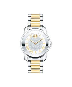 Movado Bold Silver Dial Two-tone Women's Watch 3600256