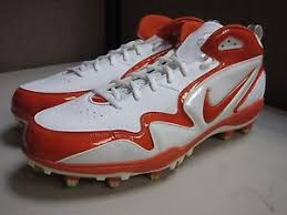 Nike Zoom Merciless Men's Red/White TD Football Cleats 354905-181