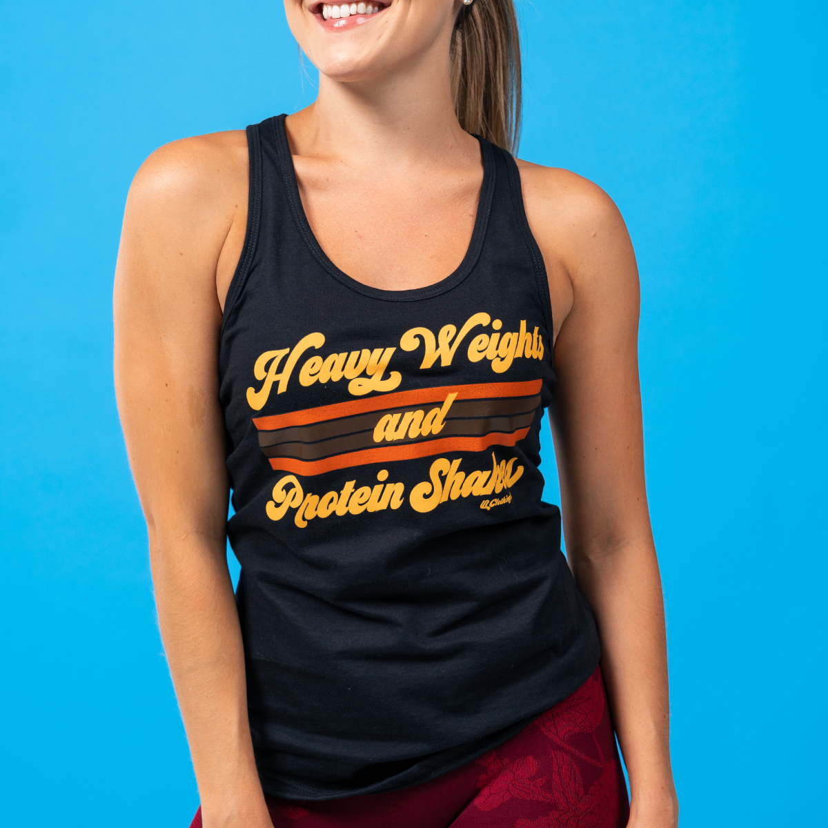 Heavy Weights & Protein Shakes Classic Racerback Tank