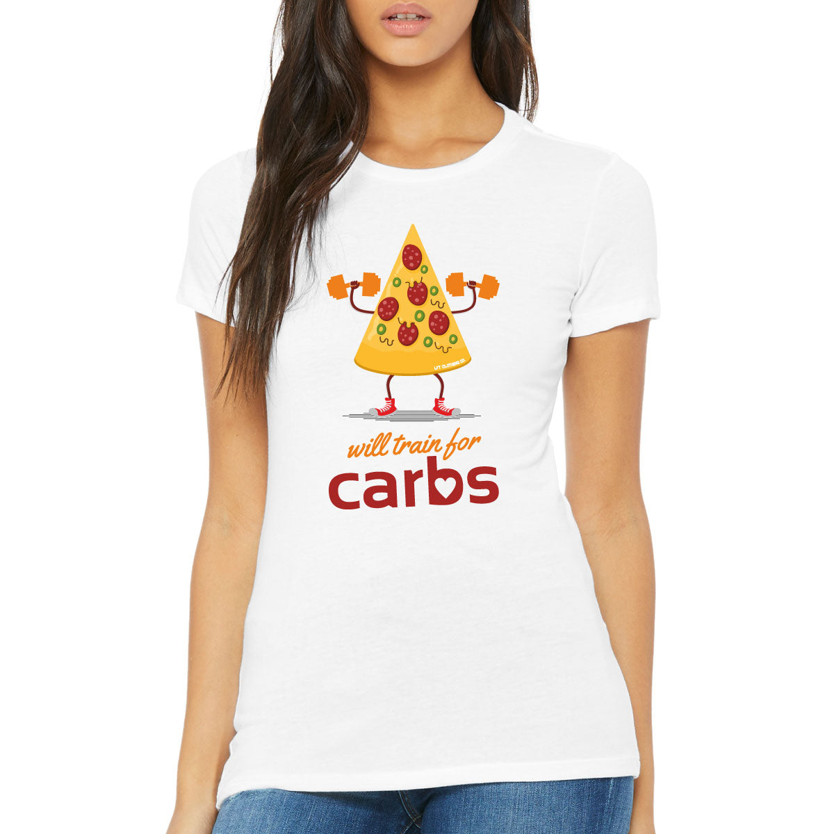 Will Train for Carbs Slim Fit Tee