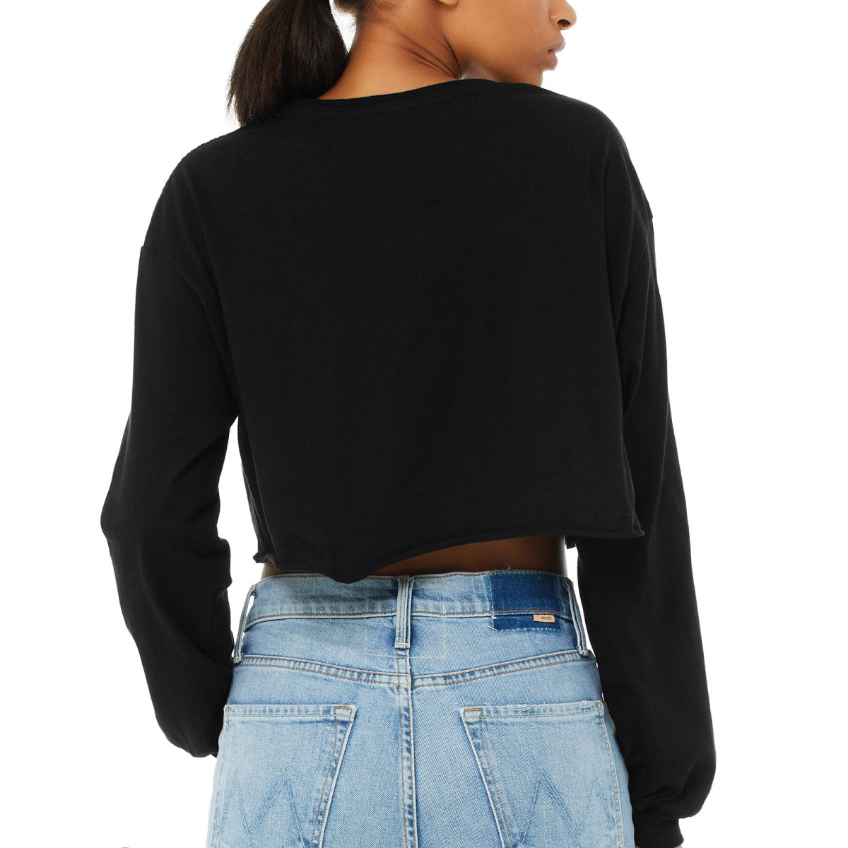 Never Skip Leg Day Cropped Long Sleeve Tee