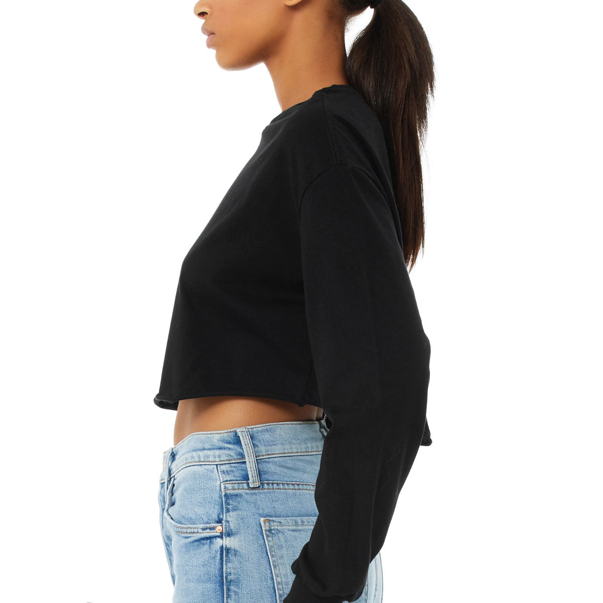 Gym Please Cropped Long Sleeve Tee