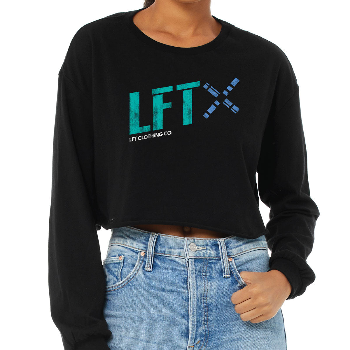 The Logo Cropped Long Sleeve Tee