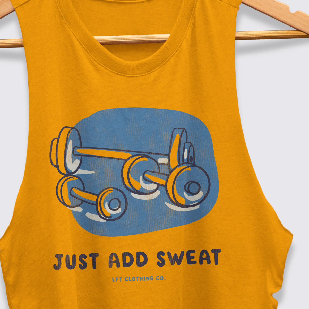 Just Add Sweat Racerback Crop Tank