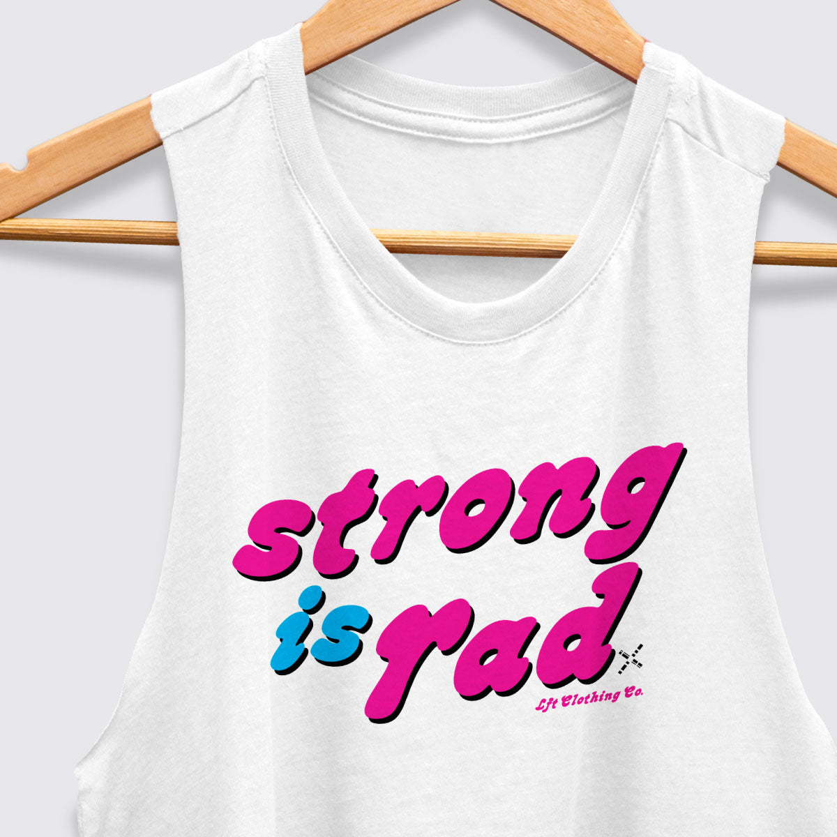 Strong is Rad Racerback Crop Tank
