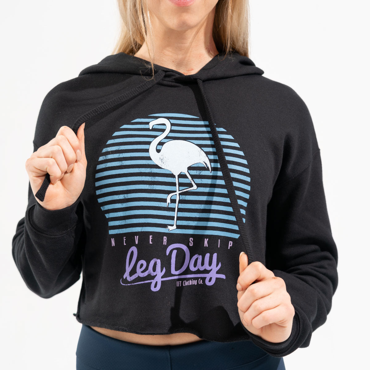 Never Skip Leg Day Cropped Fleece Hoodie