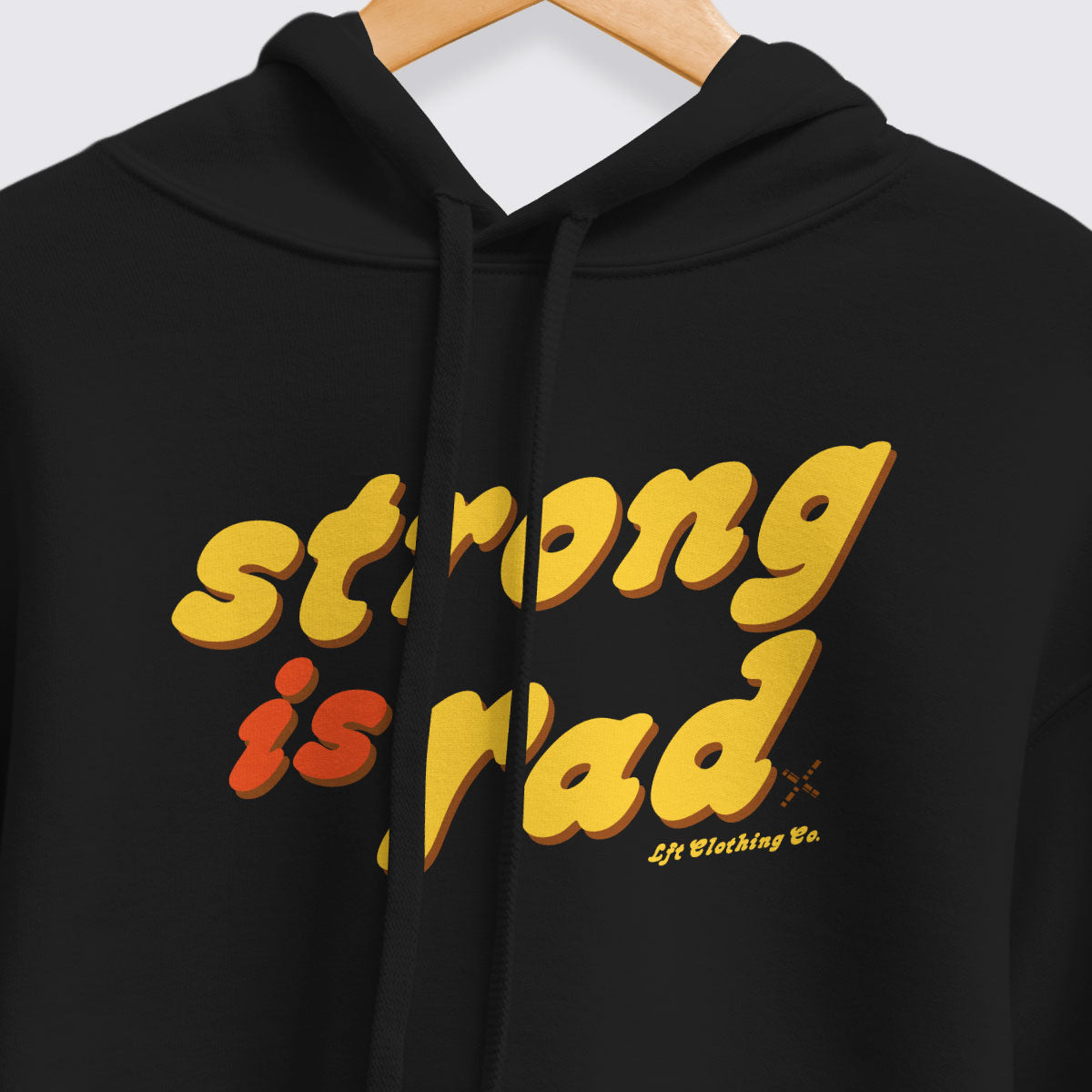 Strong is Rad Cropped Fleece Hoodie