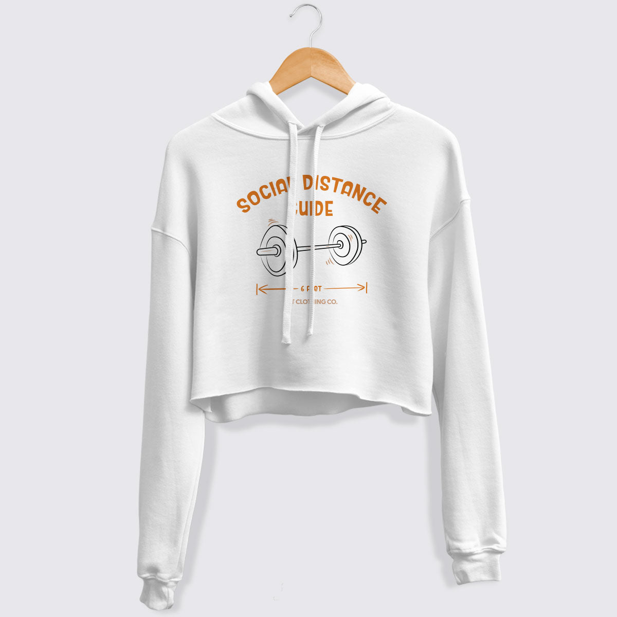 Social Distance Guide Cropped Fleece Hoodie