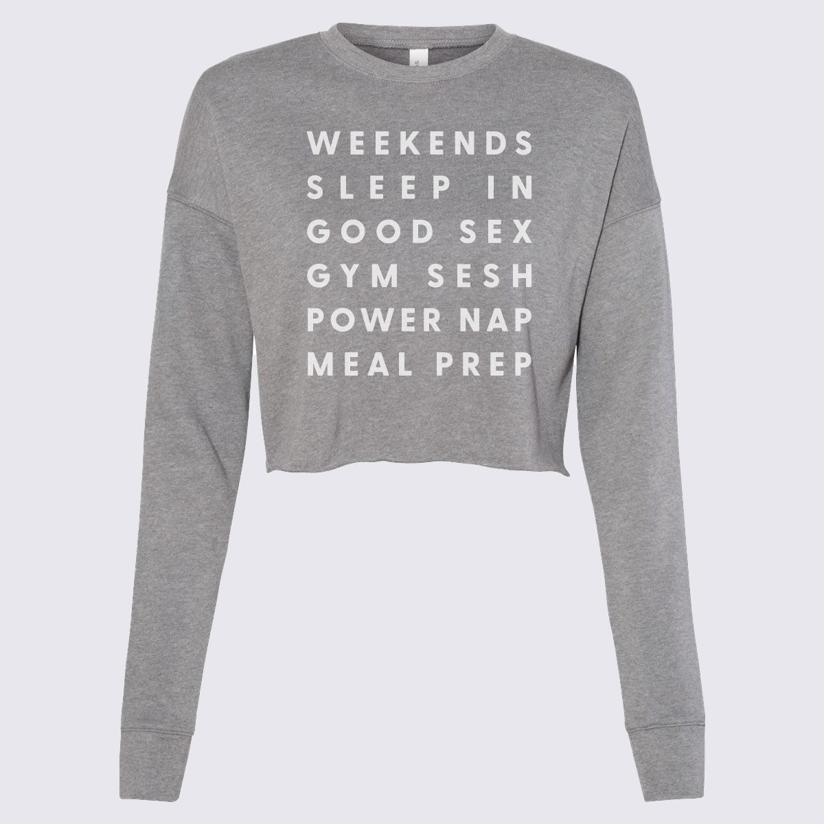 Gym Addict Women's Cropped Crew Fleece