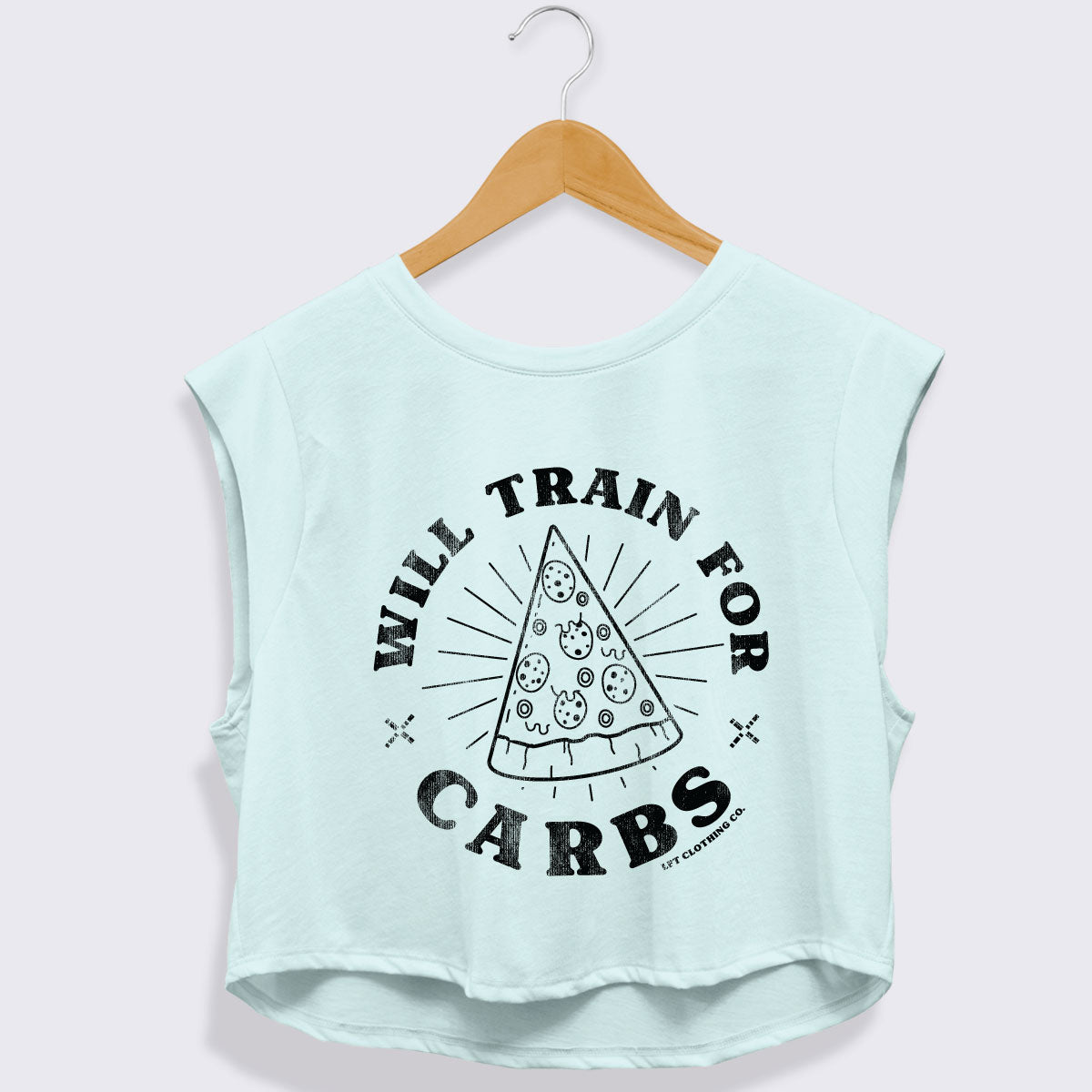 Muscle Knockout Cropped Triblend Tank