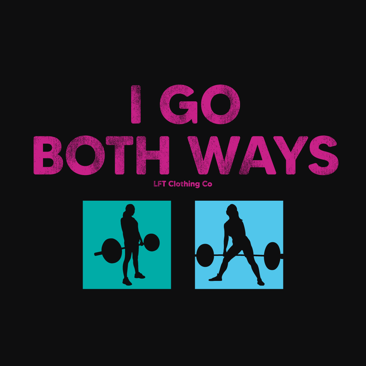I Go Both Ways Cropped Lightweight Hooded Tee