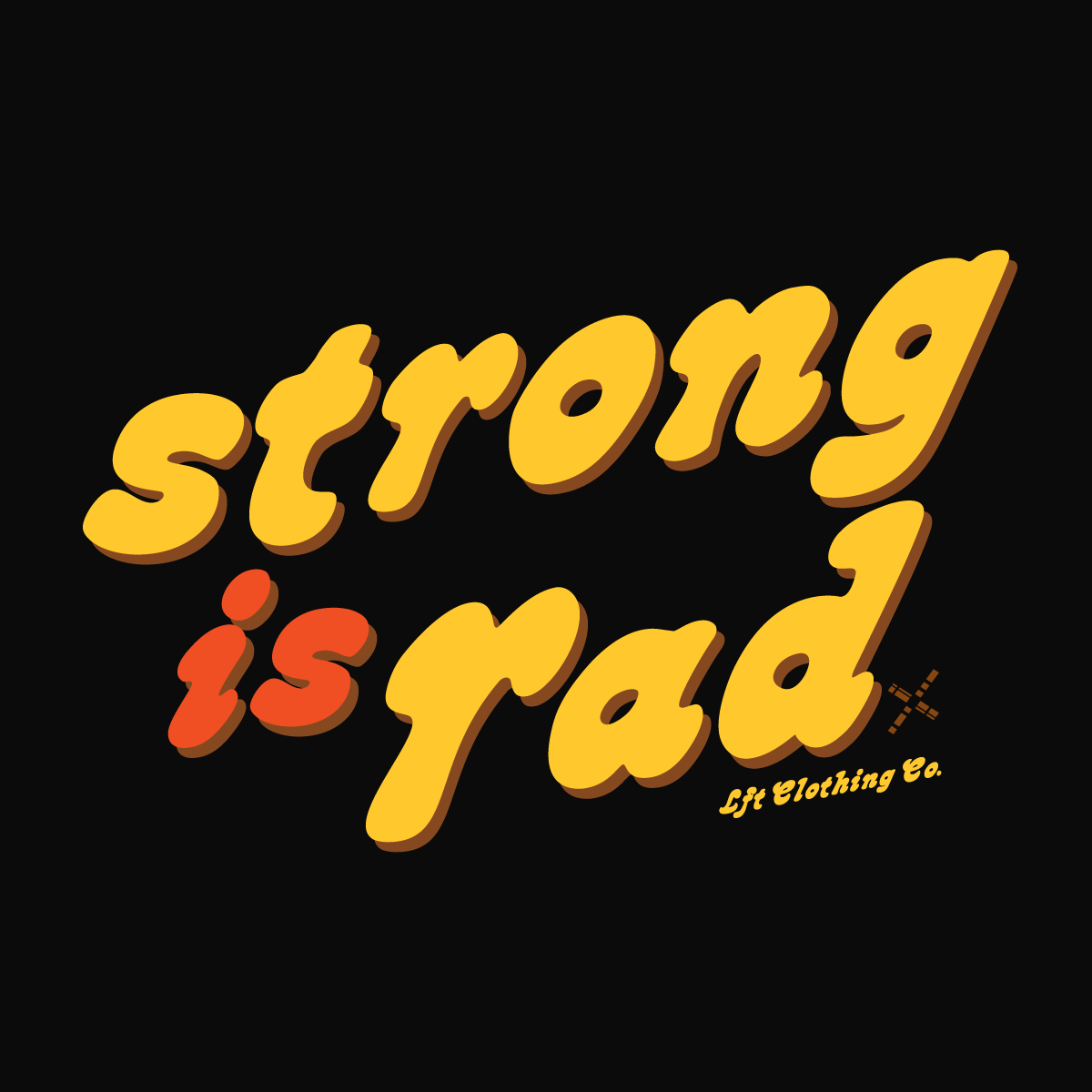 Strong is Rad Cropped Lightweight Hooded Tee
