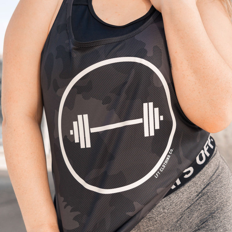 Barbell Circle Performance Racerback Tank =
