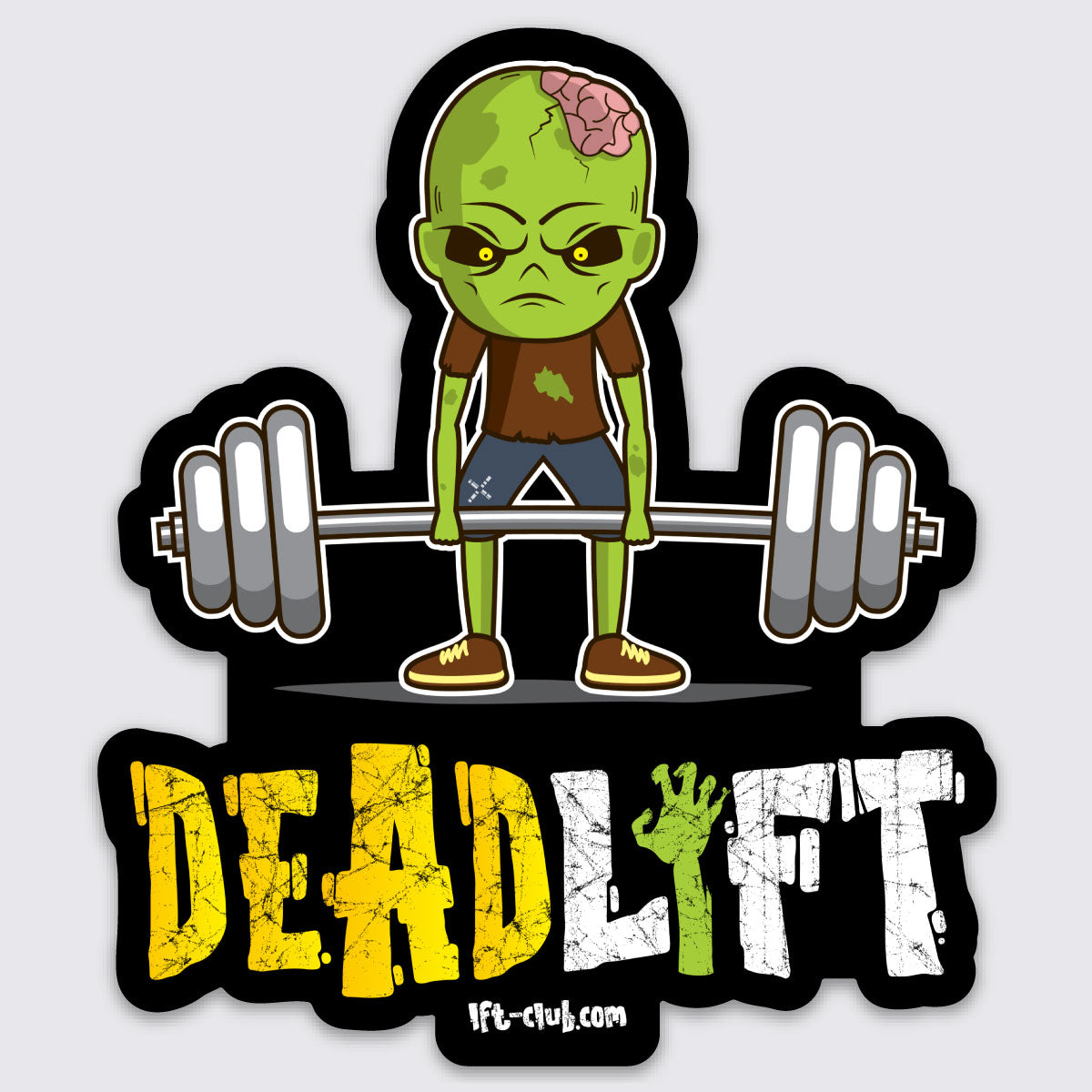 DEADlift Zombie Sticker
