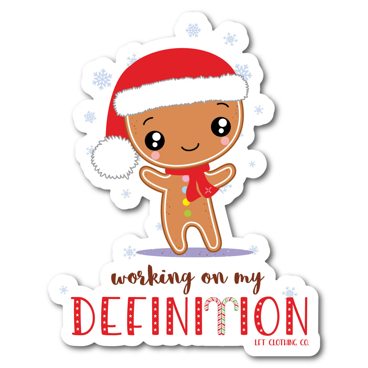 Working on My Definition Holiday Sticker