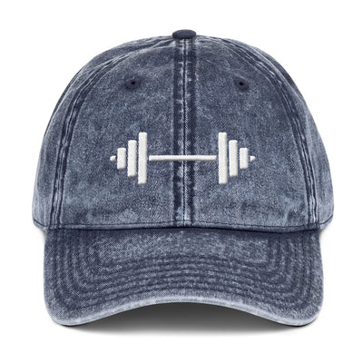 Snow-Washed Vintage Cotton Twill Cap, Barbell